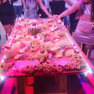 שולחן שוק מעוצב כולל תאורה